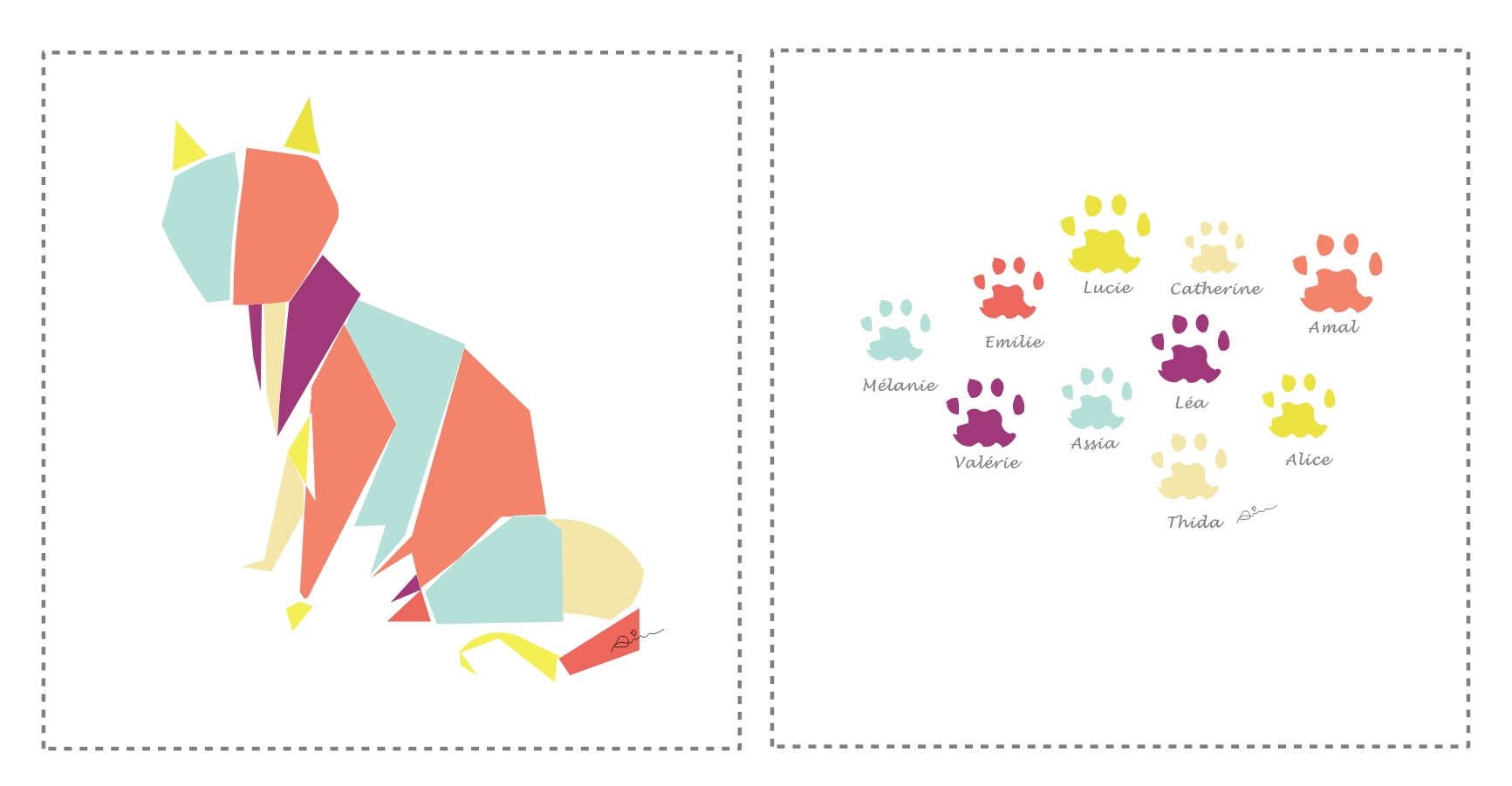 carte de voeux chat