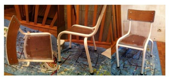 relooker chaise ecolier peinture bois